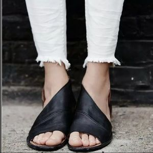 Free People Mont Blanc Black Leather Shoes 37 7